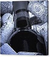 Buried Wine Bottle Canvas Print