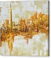Burj Khalifa Skyline Canvas Print