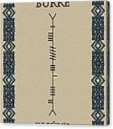 Burke Written In Ogham Canvas Print