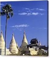 Burma Myanmar, White Minochanthar Canvas Print