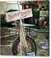 Burma Shave Sign Canvas Print