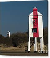 Burnham-on-sea Lighthouses Canvas Print