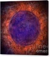 Burning Blue Sun Canvas Print
