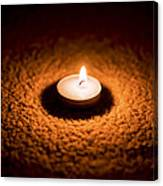 Burning Candle Canvas Print
