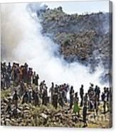 Burning Contraband Goods, Ethiopia Canvas Print