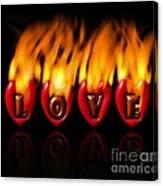 Burning Love  Brennende Liebe  Canvas Print
