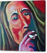 Burning Marley Canvas Print