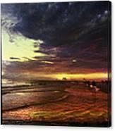 Burning Night On Siesta Key  Canvas Print