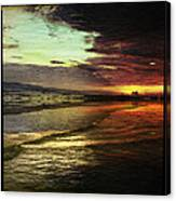 Burning Night On Siesta Key II Canvas Print