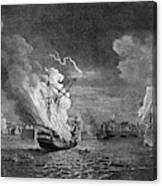 Burning Of The 'prudent' At  Louisbourg Canvas Print