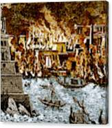Burning Of The Royal Library Canvas Print