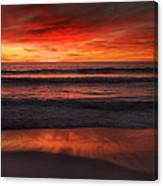 Burning Red Sunset Canvas Print