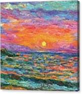 Burning Shore Canvas Print
