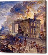 Burning Temple Of The Winds, 1856 Canvas Print