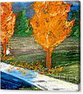 Burning Trees Canvas Print