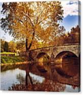 Burnside Bridge At Autumn Sunset Canvas Print