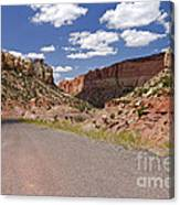 Burr Trail Road Through Long Canyon Canvas Print