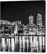 Burrard Bridge At Night Canvas Print