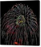 Burst Of Fireworks Canvas Print