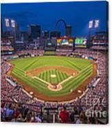 Busch Stadium St. Louis Cardinals Night Game Canvas Print