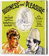 Business And Pleasure, Left Will Canvas Print