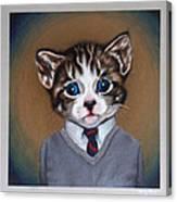 Business Casual Kitten Canvas Print