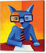 Business Cat Canvas Print