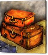 Business Man - Packed Suitcases Canvas Print