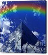 Business Rainbow And Rays Of Light Canvas Print