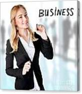 Business Woman In The Office Canvas Print