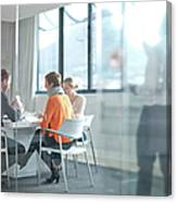 Businesspeople Having Meeting At Canvas Print