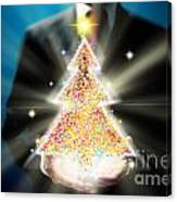 Bussinessman With Christmas Canvas Print