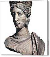 Bust Of A Woman. 4th C. Bc Canvas Print