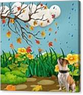 Buster And The Tree Canvas Print
