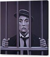 Buster Keaton Painting Canvas Print