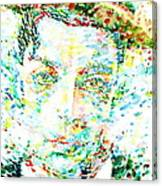 Buster Keaton - Watercolor Portrait Canvas Print