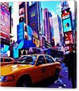 Busy City Canvas Print