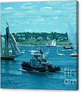 Busy Halifax Harbor During The Parade Of Sails Canvas Print