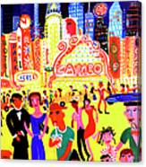 Busy Nightlife In New York City, United Canvas Print