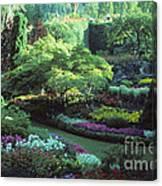 Butchard Gardens Vancouver Island Canvas Print
