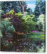 Butchart Gardens Is A Group Of Floral Display Brentwood Bay Canvas Print