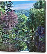Butchart Gardens Is A Group Of Floral Display Gardens British Columbia Canada 3 Canvas Print