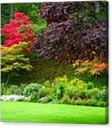 Butchart Gardens Lawn And Tree Canvas Print