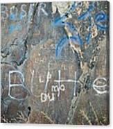 Butte Graffiti Canvas Print