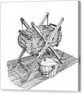 Butter Churn Circa 1822 Canvas Print