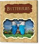 Butterflies Button Canvas Print