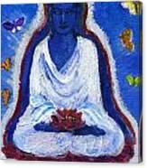 Butterflies Dream Of Buddha Canvas Print