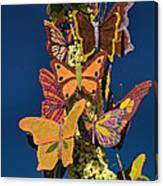Butterflies On A 2015 Rose Parade Float 15rp047 Canvas Print