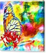 Butterfly Abstracted Canvas Print