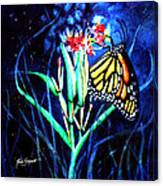 Butterfly At Work Canvas Print